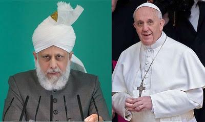 Khalifa of Islam & Pope Francis1