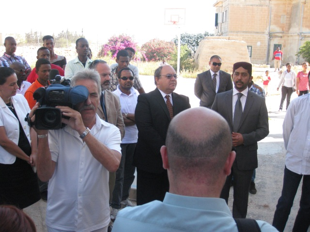 Hon. Minister Manuel Mallia & Laiq Ahmed Atif, addressing the press