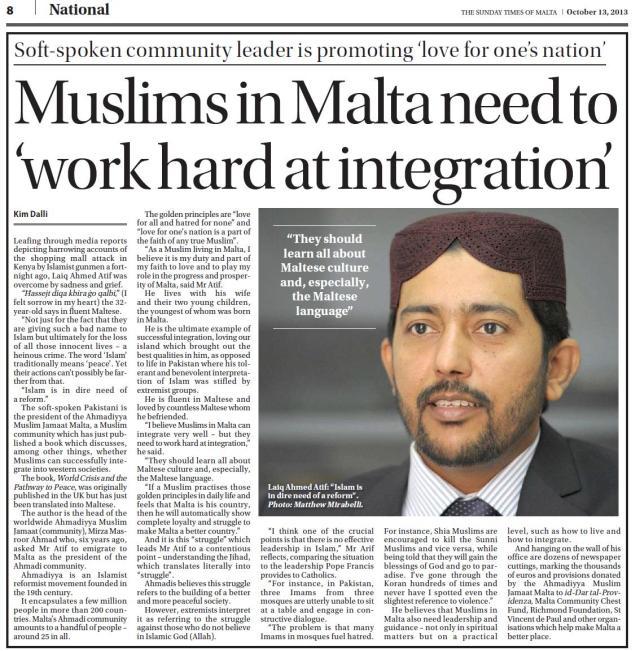 Muslims need to work hard at integration