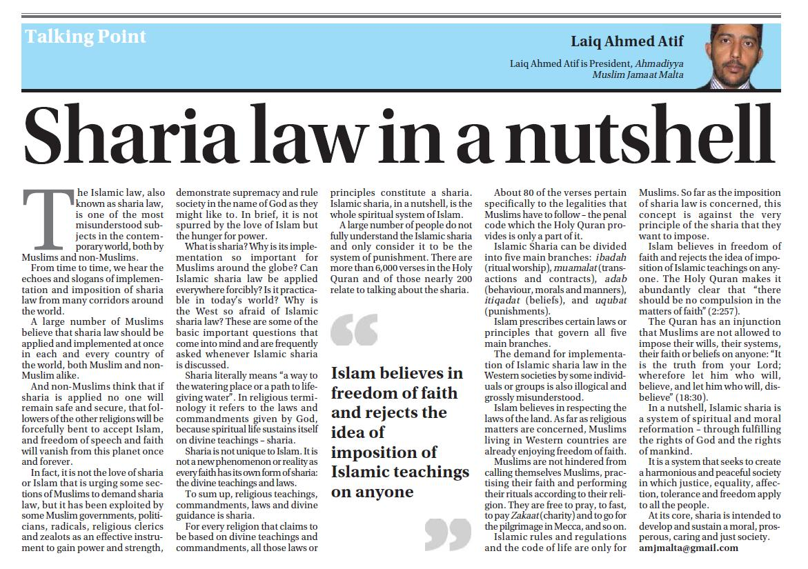 a non muslim shariah lawyer As with so many aspects of islam, some non-muslims criticize 'sharia law' without really knowing the first thing about it.