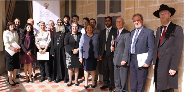 group photo with Her Excellency the President of Malta