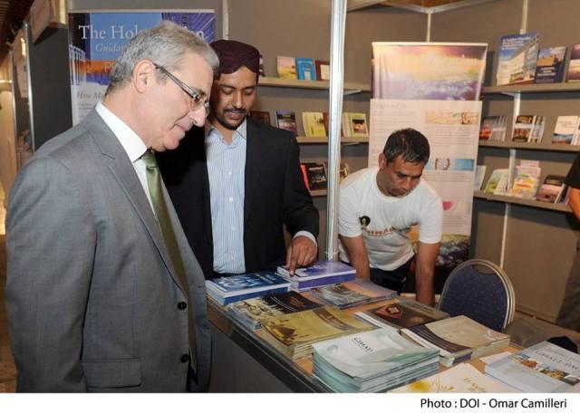 Hon. Education Minister Visits Ahmadiyya Stall
