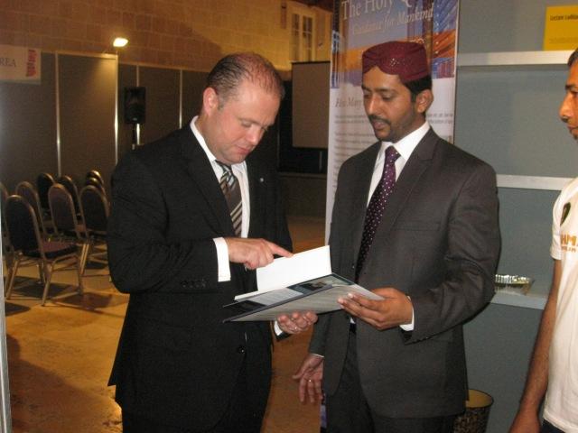Hon. Prime Minister visits Ahmadiyya Stall
