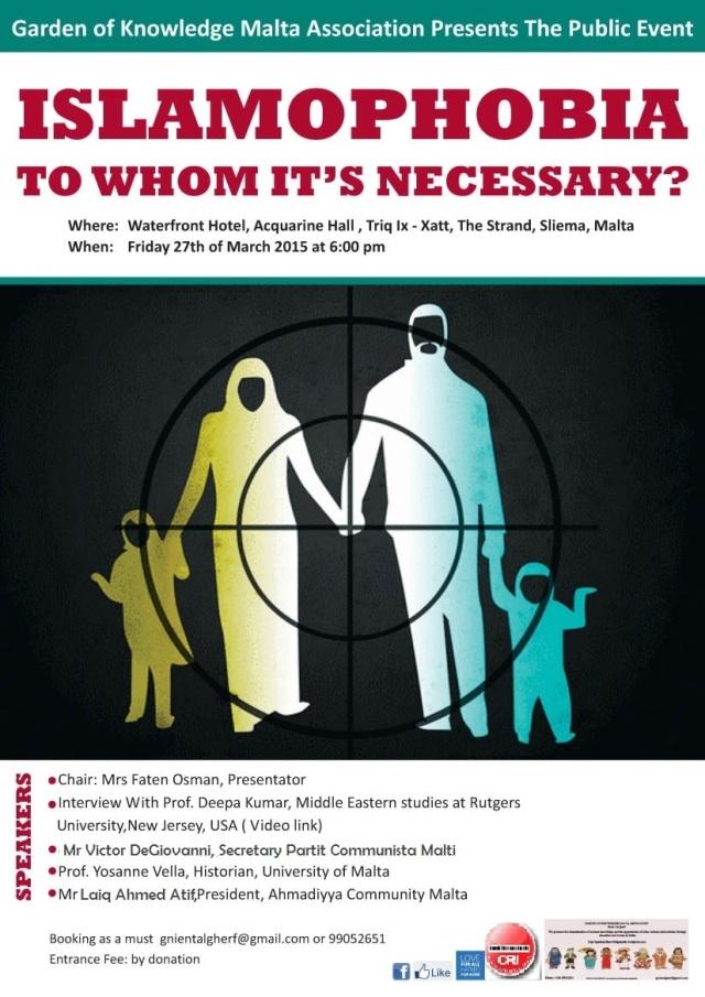 Seminar Islamophobia!