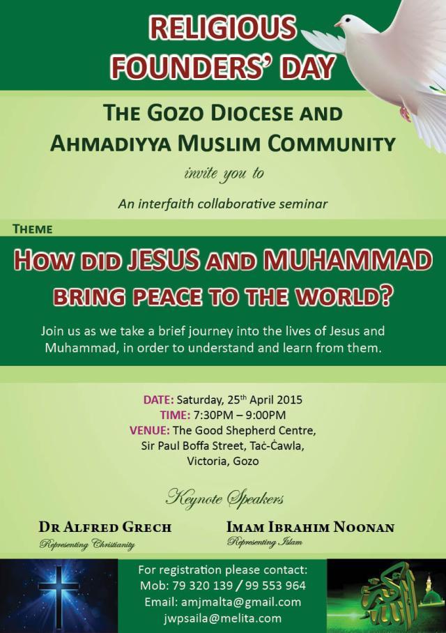 GOZO - Religious Founders' Seminar