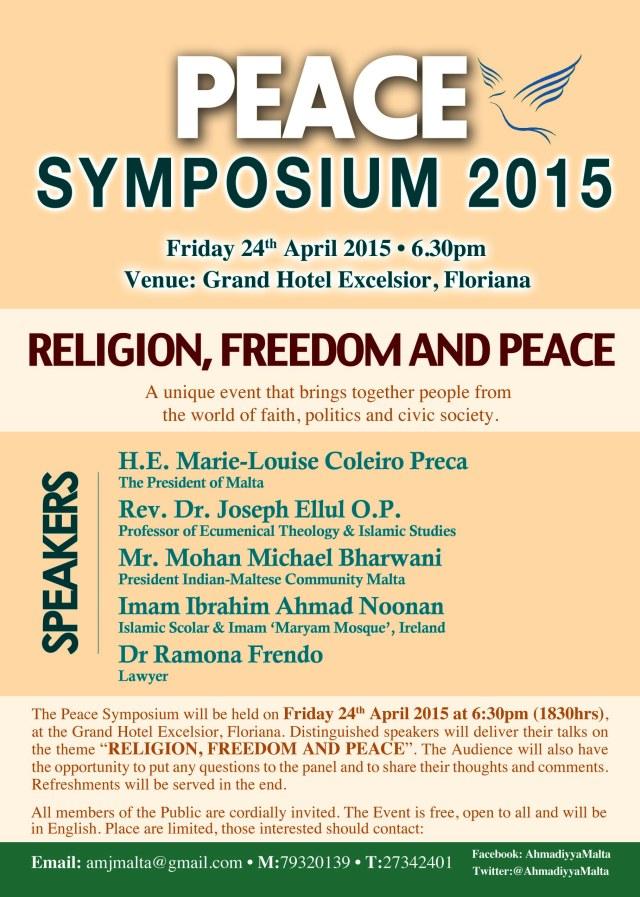 Peace Symposium 2015