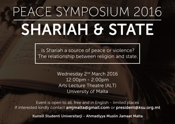 Peace Symposium 2016