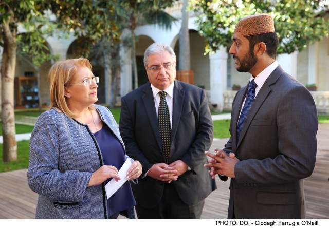The President receives representatives of Ahmadiyya Muslim Jamaat Malta on a courtesy call